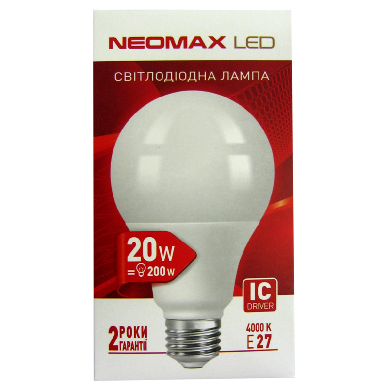 Лампочка светодиодная Neomax NX20L 20W E27 4100K . 1800Lm
