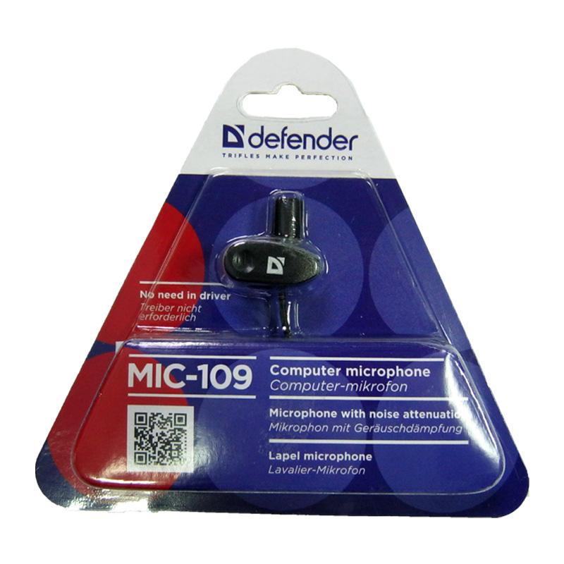 Микрофон Defender MIC-109 с прищепкой