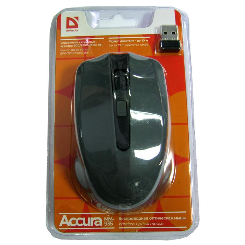Беспроводная мышка Defender MM-935 Accura, grey, USB