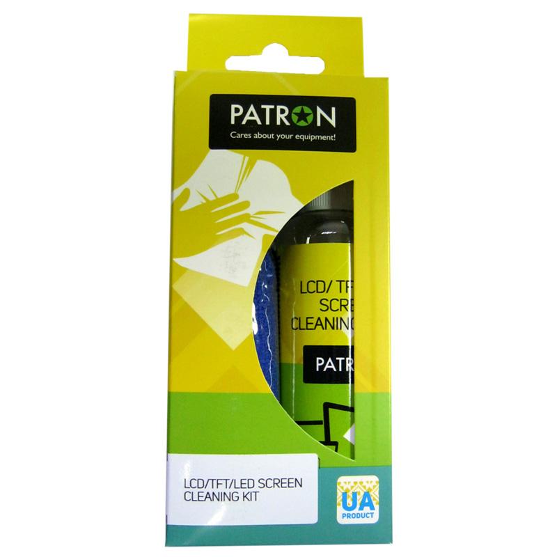 Чистящий спрей PATRON F3-017 (100ml+микрофибра 20x20cm для LCD/TFT/LED экранов)