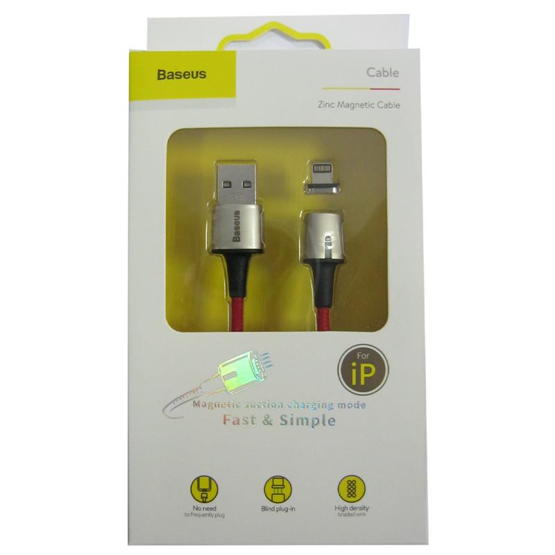 kabel-lighting-usb-baseus-zinc-magnetic-cable-2-4a-1-0m-red
