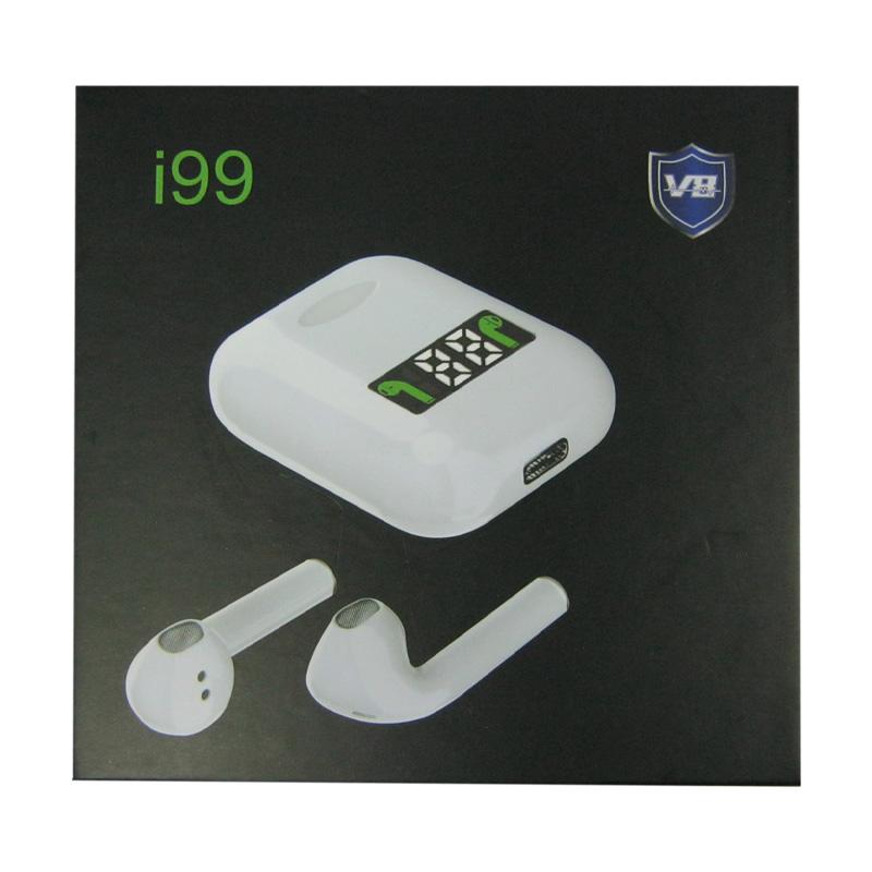 Bluetooth гарнитура BT i99 c цифр.дисп.; 5.0 TWS Airpods сенсорные white с кейсом