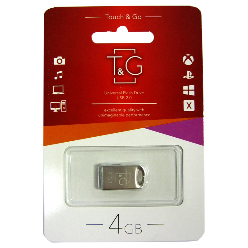 Флешка 4Gb T&G 105 Metal
