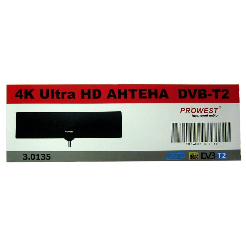Антенна цифровая комнатная DVB-T2 PROWEST 3.0135 плоская
