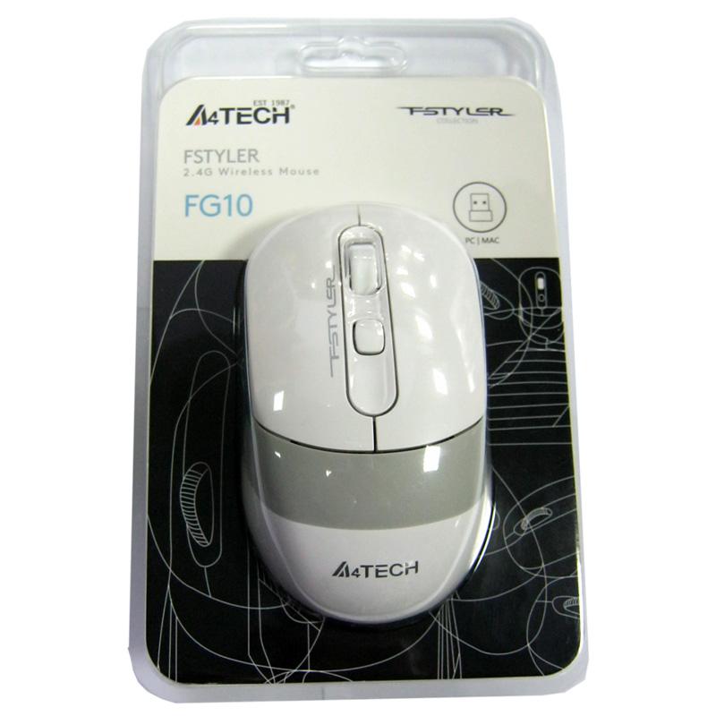 Беспроводная мышка A4Tech FG10 White, USB, DPI-2000