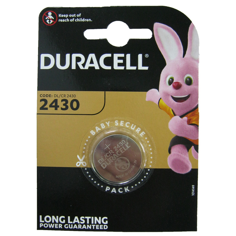 Батарейка Duracell CR2430 Lithium 3V 1шт