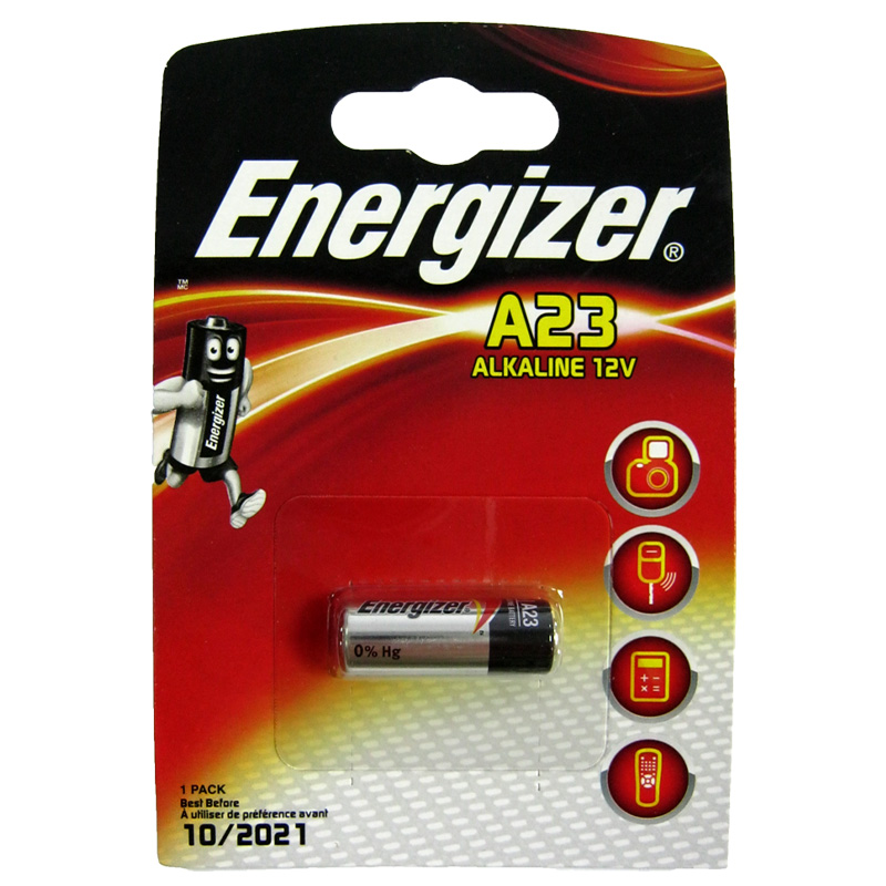 Батарейка 23A Energizer MN21 12B блистер (для сигнализации)