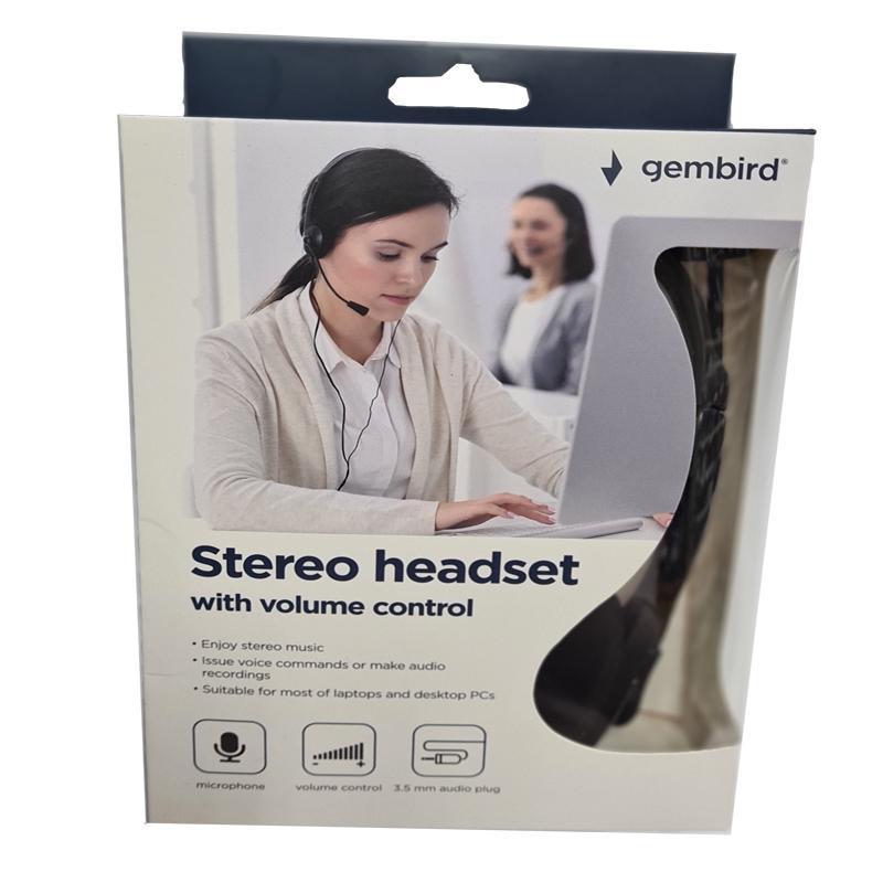 Наушники с микрофоном Gembird MHS-123,черные