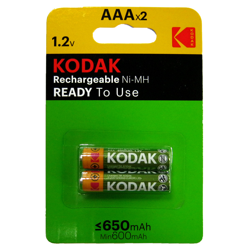 Аккумулятор R03 Kodak 650mAh NiMH по 2шт(предзаряженные)