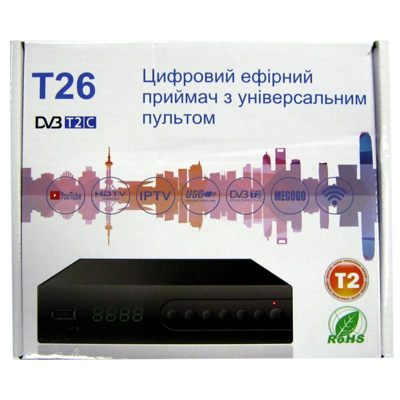Тюнер DVB-T2 uClan T2 T26 Metal(гар.14дн.) (дисплей;IPTV;YouTube;USB 2.0)
