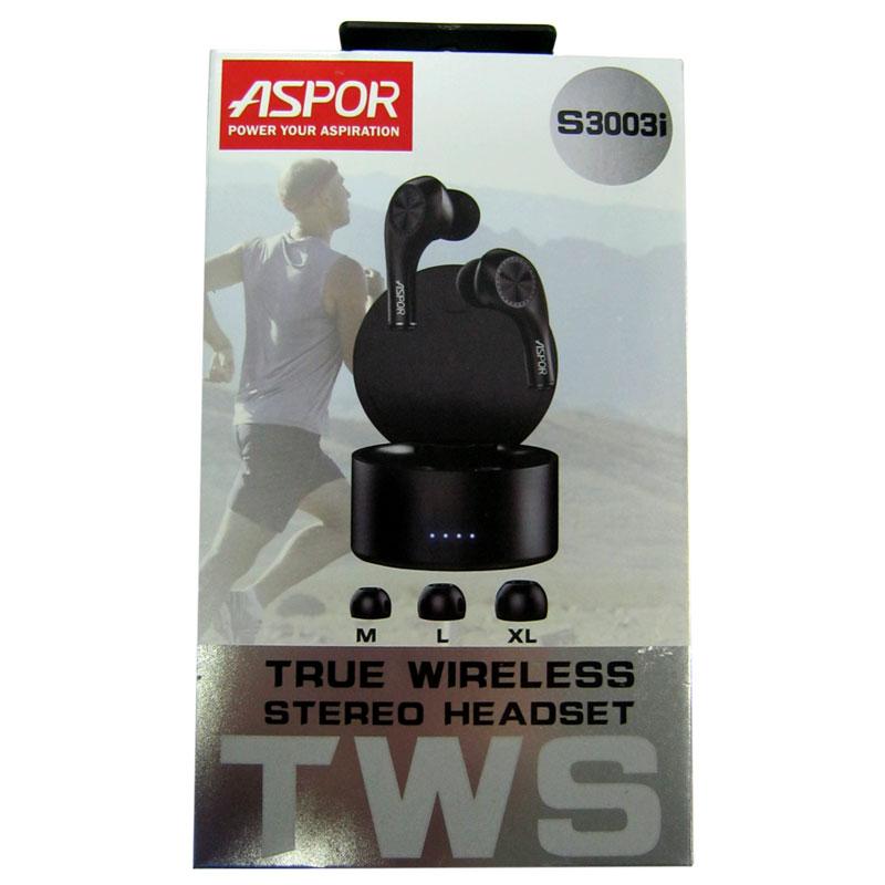 Фото нетBluetooth гарнитура Aspor - Air Dors S3003i black
