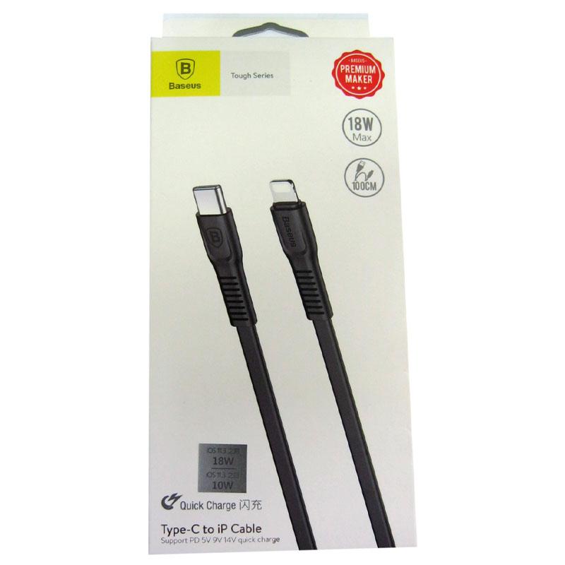 Кабель Lighting-TypeC Baseus Tought series black cable 1,0м , 18W ,