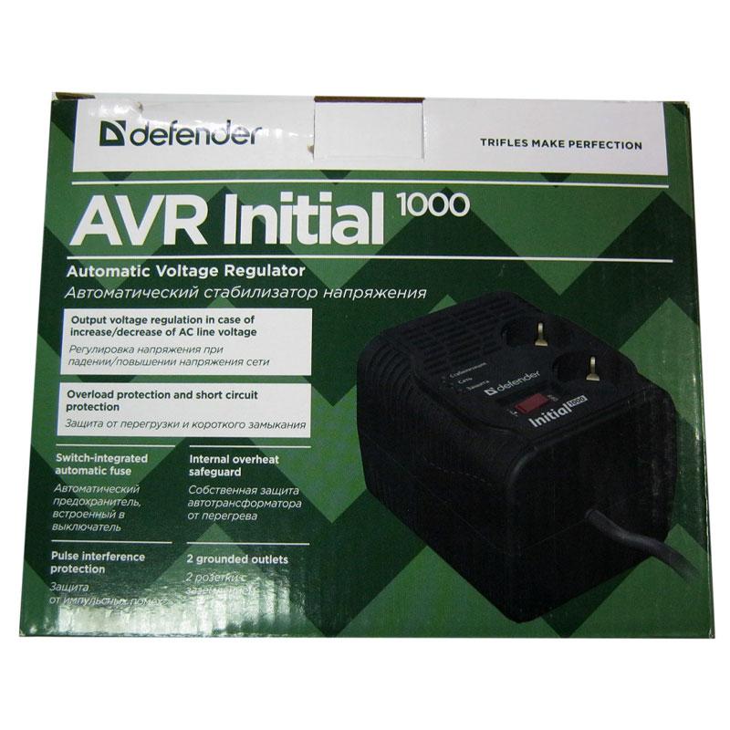 Стабилизатор Defender AVR Initial1000 (320W);2розетки