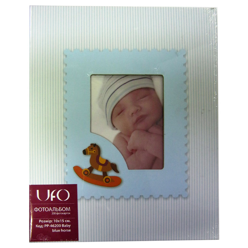 Фото нетФотоальбом UFO 10/15 на 200шт PP-46200 Baby blue horse