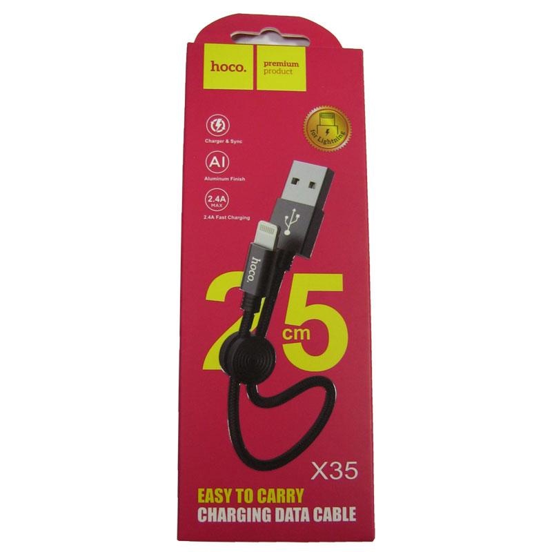 kabel-lighting-usb-hoco-x35-premium-original-0-25m-black