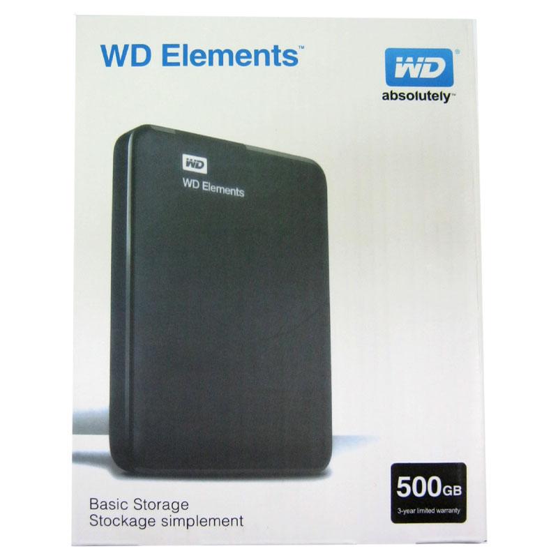 Портативный жёсткий диск HDD 500Gb WD Elements USB3.0 2.5
