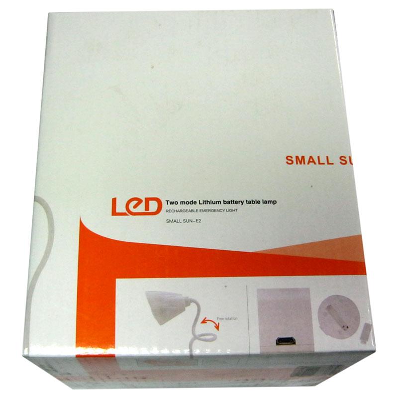 Лампа настольная Small Sun ZY-E2 12+20SMD, 3 реж.,сенсор,аккум.18650 в комп., USB