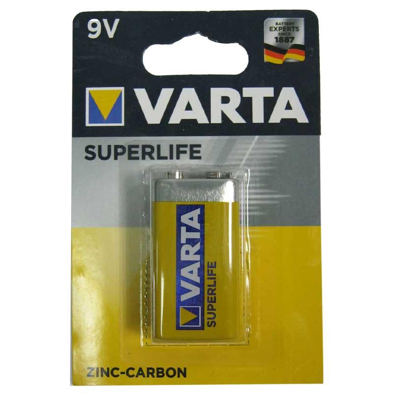 Батарейка крона 6F22 Varta Superlife блистер