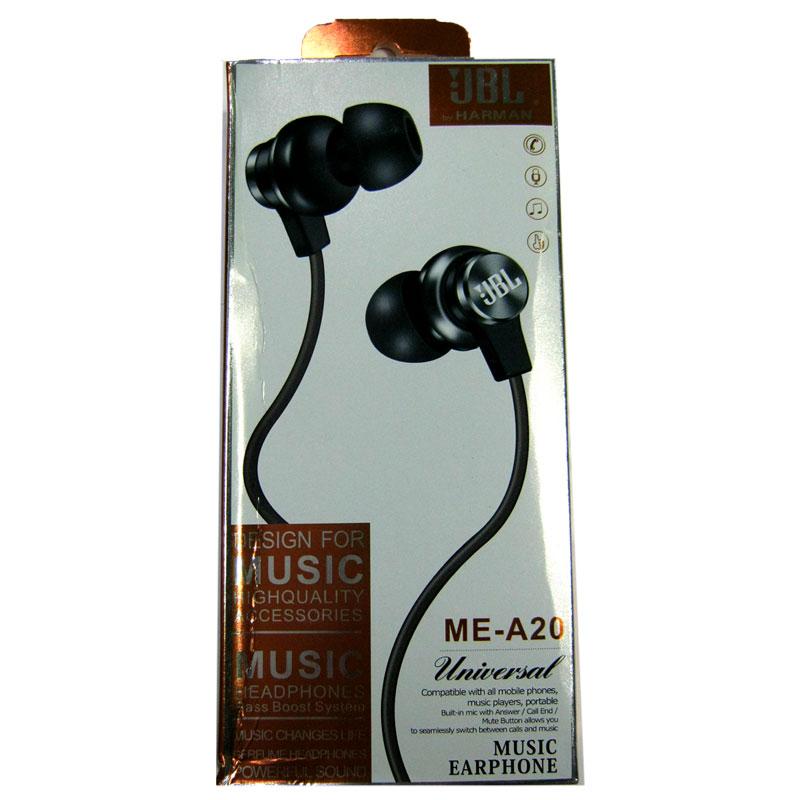 Гарнитура для телефона (Китай) JBL ME-A20 black