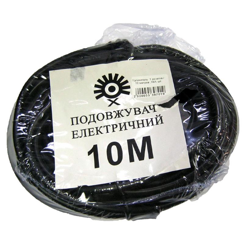 Удлинитель 1 розетка / 10 метров ,16А