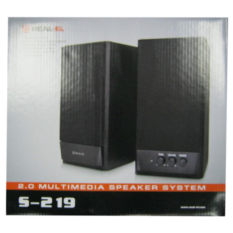 Колонки REAL-EL S-219 (black), 2x5W, USB