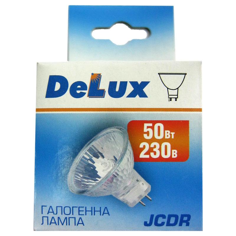 Лампочка DELUX галогеновая JCDR 230V 50W G5.3 MR16