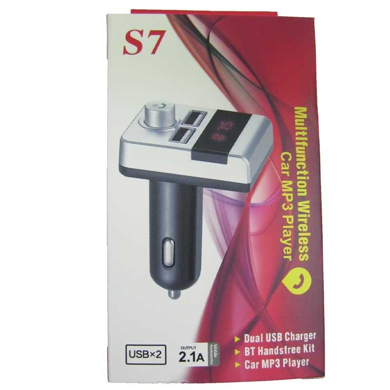 FM модулятор для автомобиля S7 black(Распродажа)