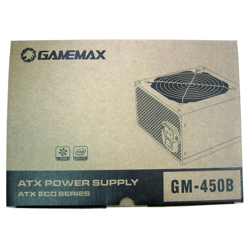 Блок питания GEMEMAX GM-450B(ATX-450W) fan12см;20+4Pin;3 SATA;PCI-6P+кабель сеть