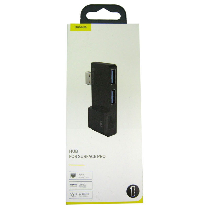 Концентратор Baseus Multifunkctional HUB USB-USB3.0(2port)+RG45 black
