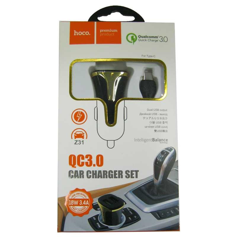 avtomobil-noe-zaryadnoe-ustroystvo-hoco-z31b-qc3-0-3-4a-2-usb-black-kabel-typec