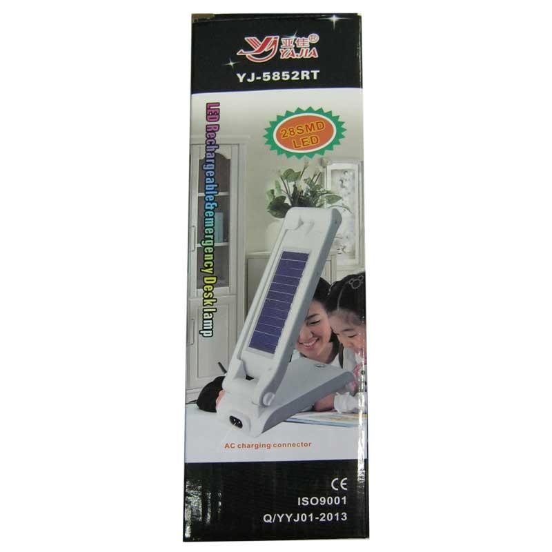 Лампа настольная Yajia YJ-5852RT 28SMD солнеч.бат.,аккум.,ЗУ сеть,дневного света