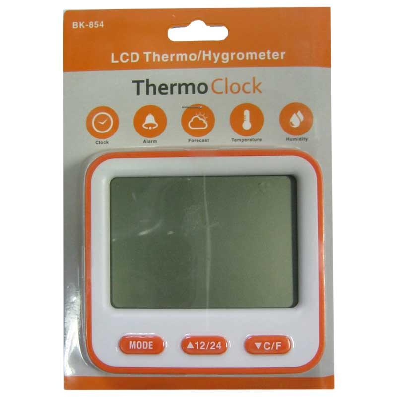 Часы 854 (2хААА)термометр с гигрометром