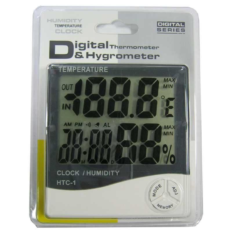 Часы HTC-1 (1хААА)термометр с гигрометром