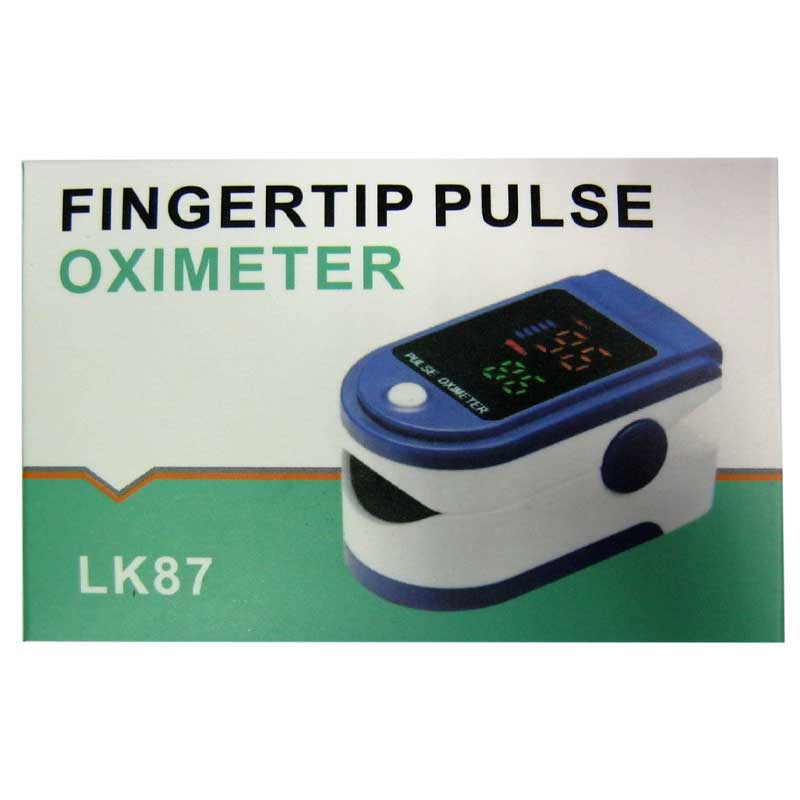 PULSE OXIMETER LK87 пульсометр на палец с функцией измерения кислорода от батареек
