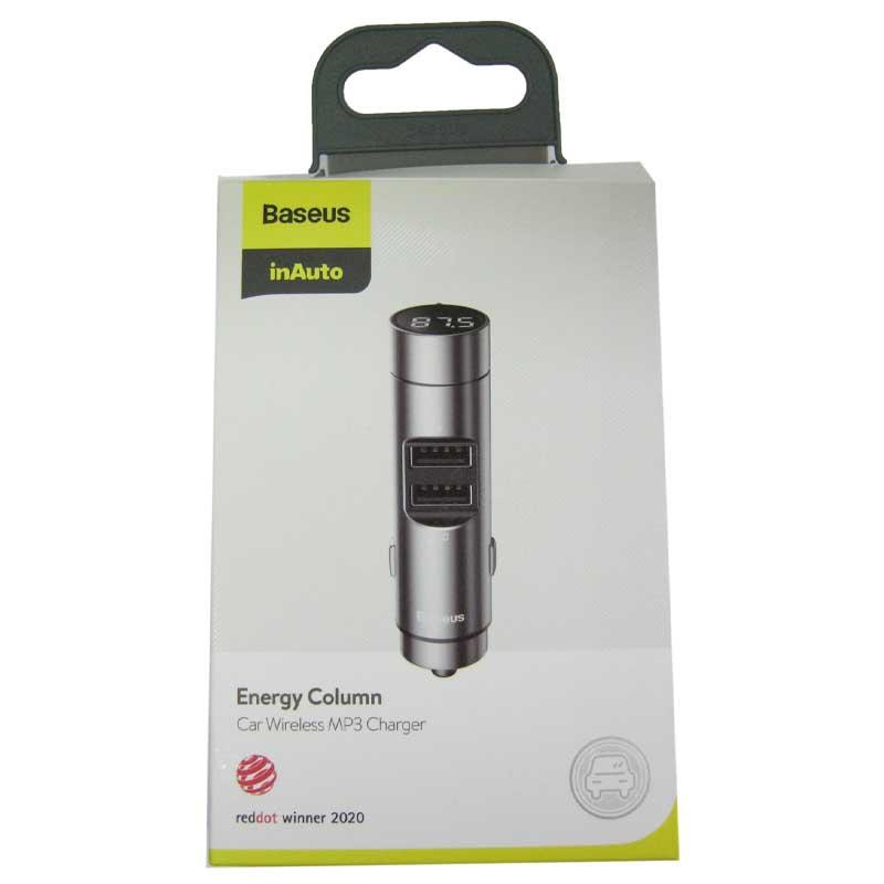 FM модулятор для автомобиля Baseus Energy Column Bluetooth MP3 charger silver