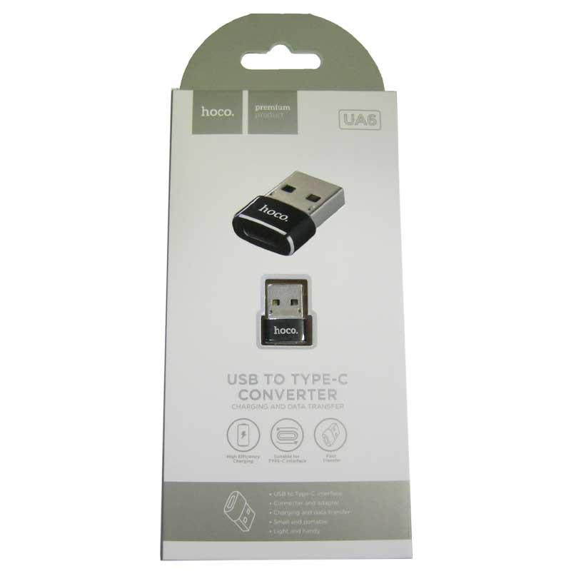 Переходник Hoco UA6 OTG USB2.0(папа)-Type-C(мама)