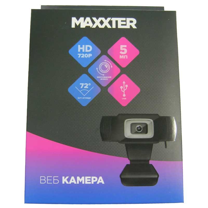 Web камера Maxxter FF-01, HD 720p, 5Mp, USB (с микрофоном)