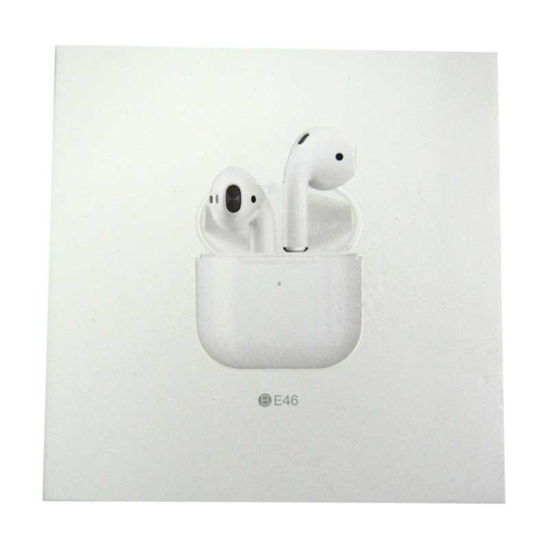 Bluetooth гарнитура Borofone BE46 Enjoy V5.0 white (сенсорные с кейсом)