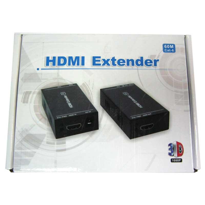 Переходник ATcom HDMI extender + б.п. 5V/1A(удлинитель HDMI до 60м по витой паре)