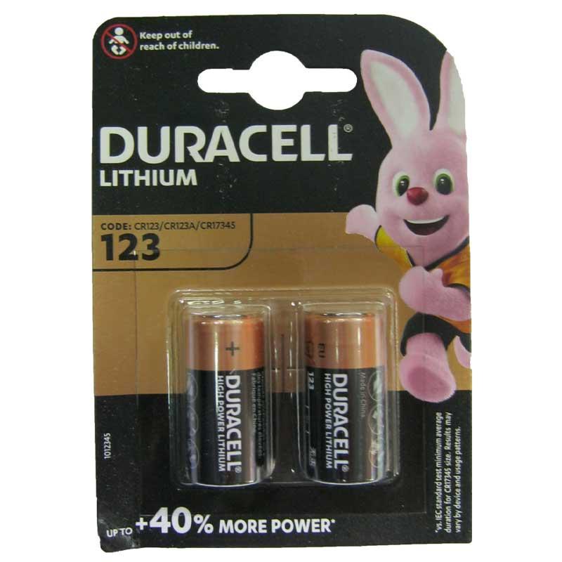 Батарейка CR 123A Duracell 3V Lithium, 1шт (блистер по 2шт)