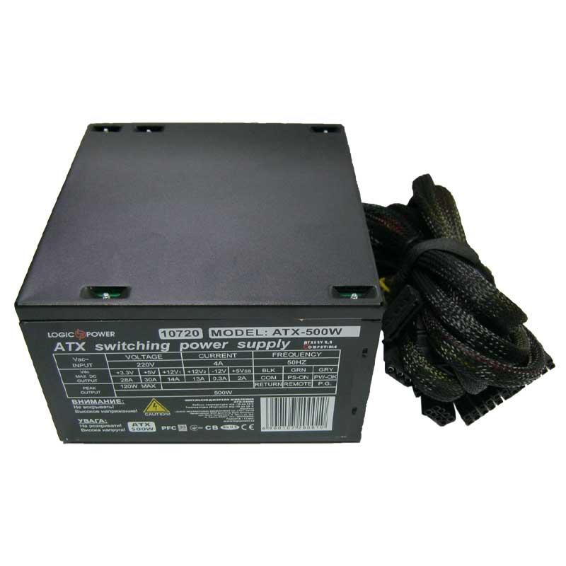 Блок питания Logicpower ATX-500W LED fan12см;ATX bulk;3 SATA;PCI-E 8Pin