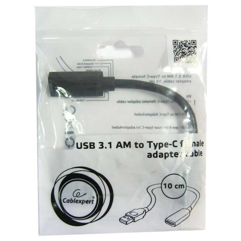 Кабель Cablexpert OTG USB3.0(папа) на Type-C(мама), A-USB3-AFCM-01