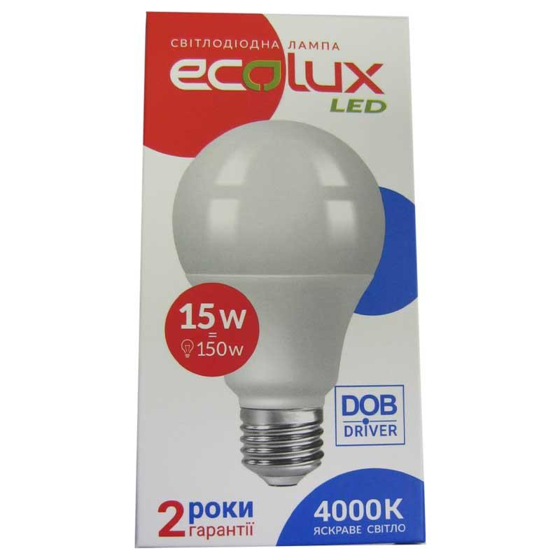 Лампочка светодиодная Ecolux EX15L 15W E27 4000K . 1300Lm