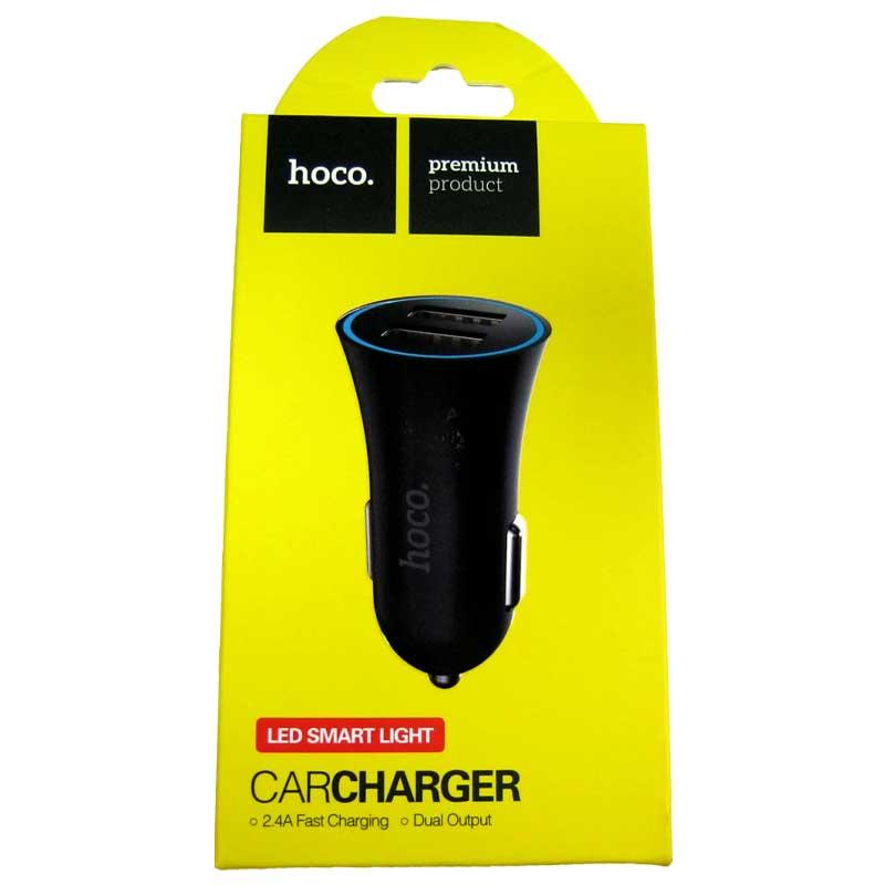 Автомобильное зарядное устройство HOCO UC204 2,4A (2-USB ) black