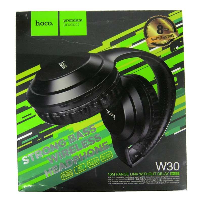 Bluetooth гарнитура HOCO W30 Fan move Black, AUX, TFcard