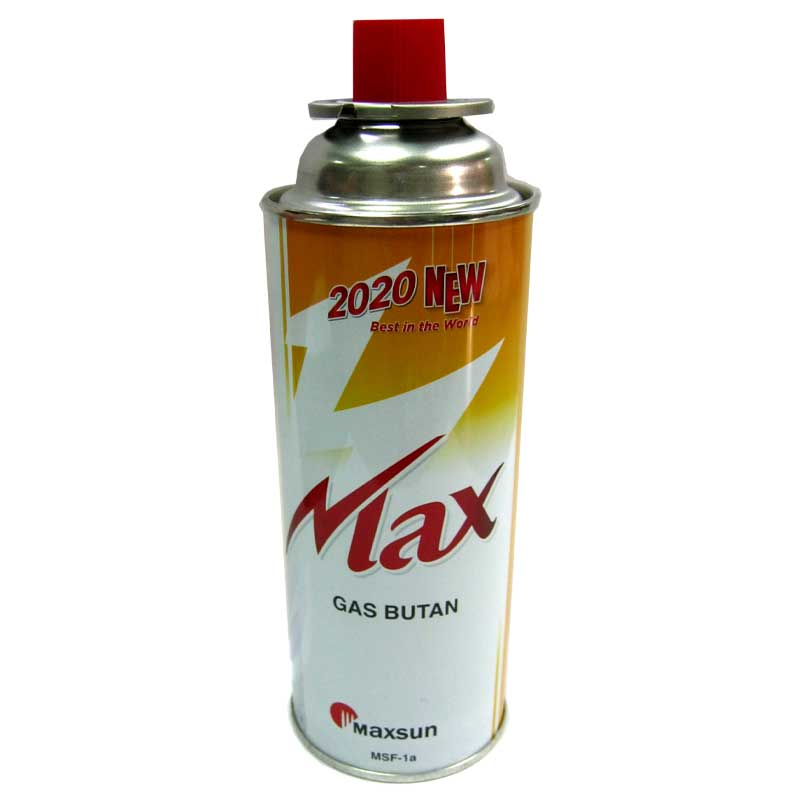 Газовый баллон MAXsun 420ml металл.золотой (для горелок ,плит )