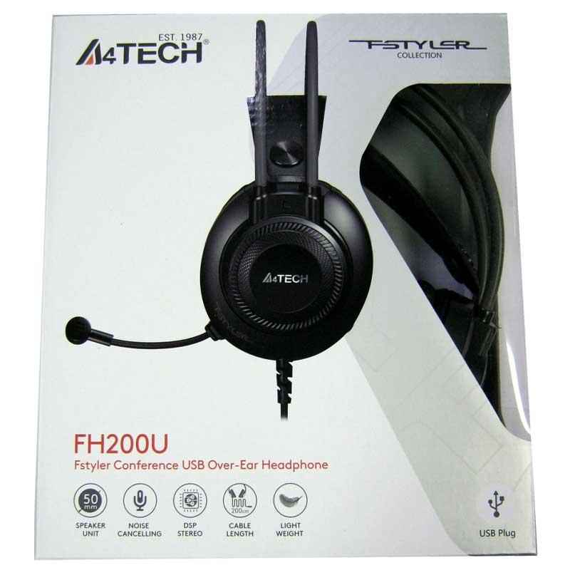 Наушники с микрофоном A4-Tech FH-200U Grey, USB