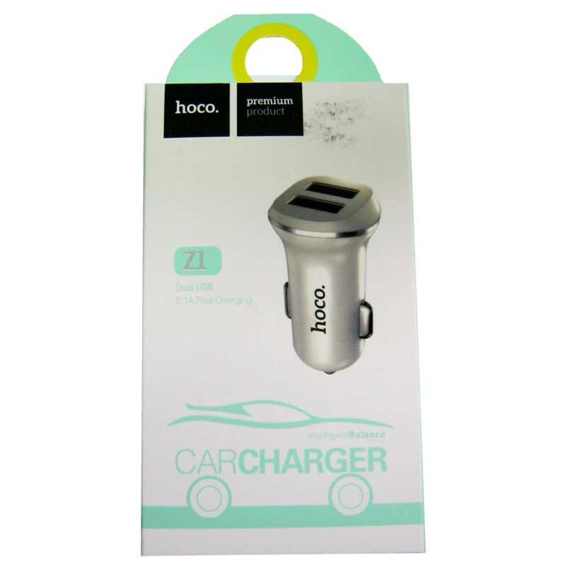 Автомобильное зарядное устройство HOCO Z1 2,1A (2USB) white