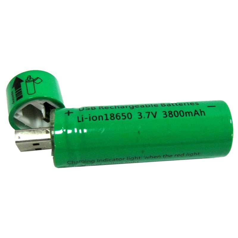 Аккумулятор 18650 BLD green c USB зарядкой 3800mAh 3.7V Li-ion